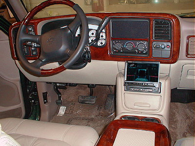 Personal vehicle development by team hendrick for 2001 chevy tahoe interior parts